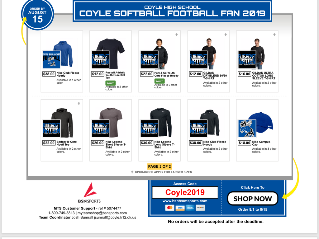 Coyle Apparel Flyers