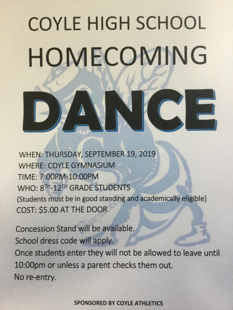 Coyle Homecoming Dance Flyer