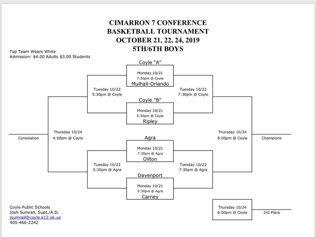5th/6th Boys Bracket