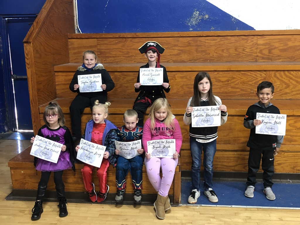 Elementary October Students of the Month