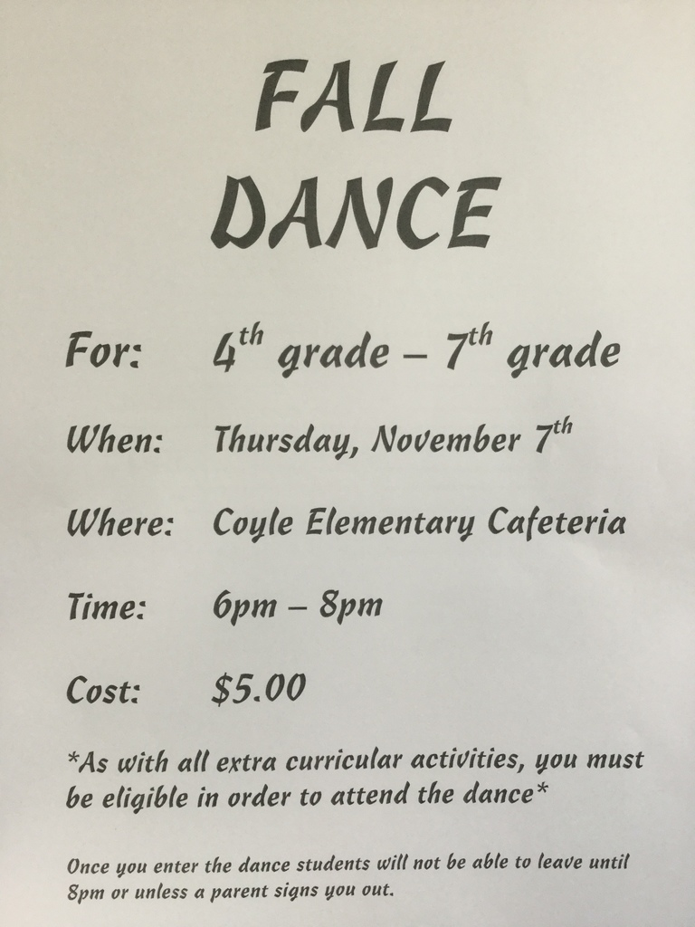 Elementary Fall Dance Flyer