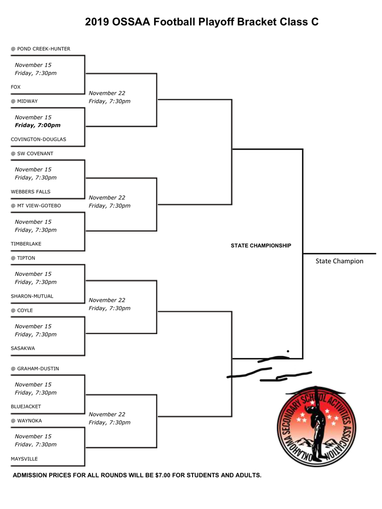 Class C Football Playoff Bracket