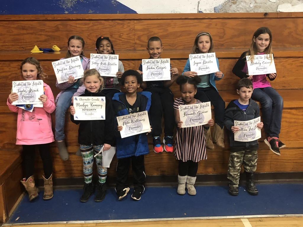 Elementary November Students of the Month