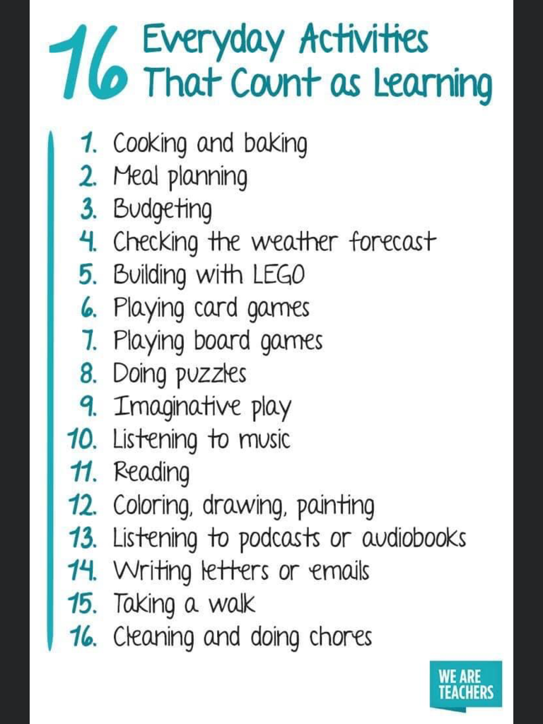 School Activity List