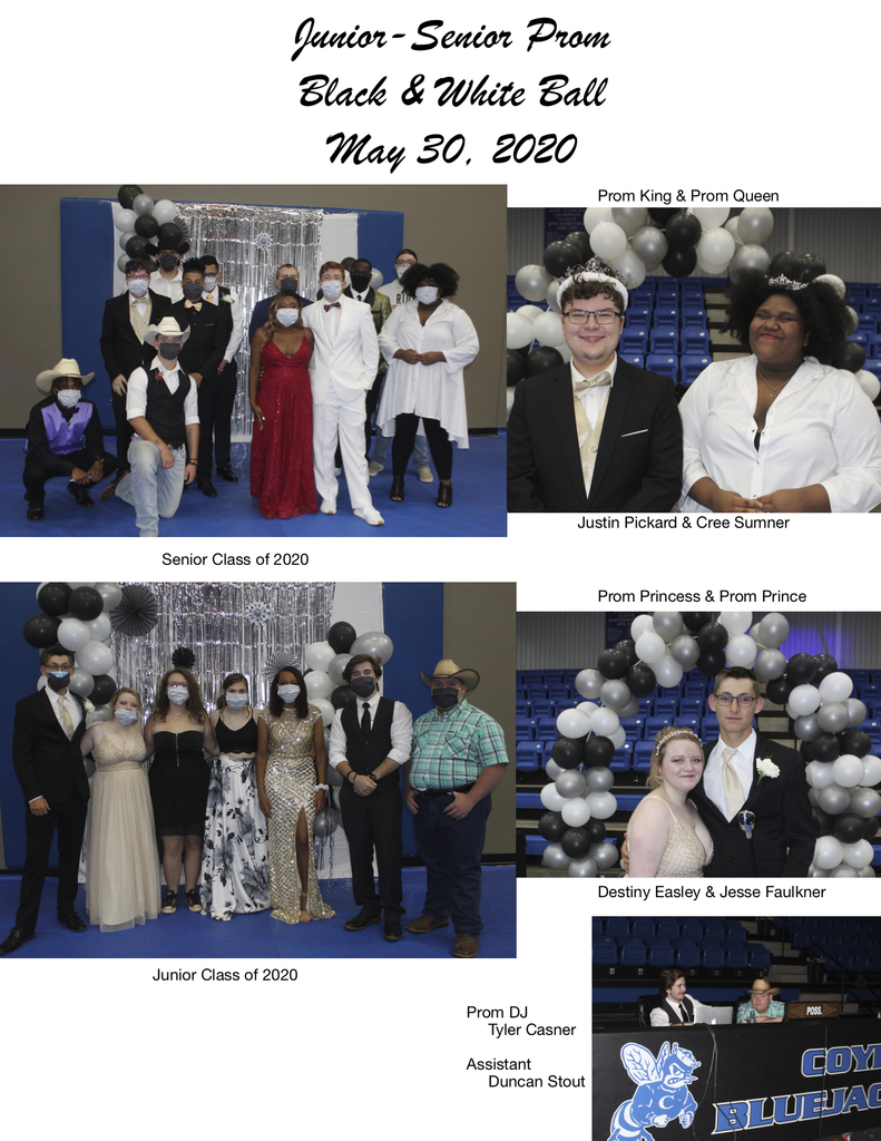 Black & White Prom May 30, 2020